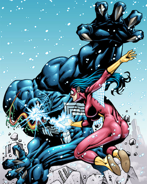 spiderwoman vs venom