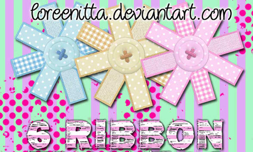 Ribbon Flowers png