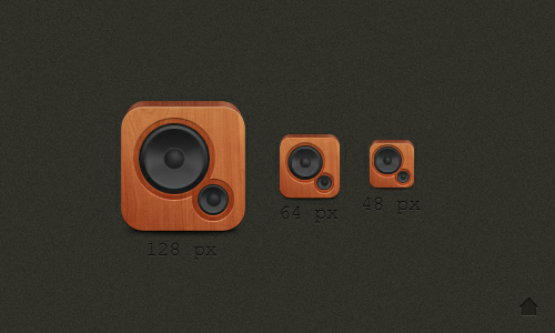 Wood Speaker Icon