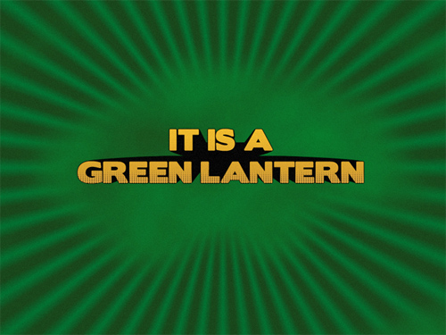 Movie Credits (Green Lantern) Text Effect