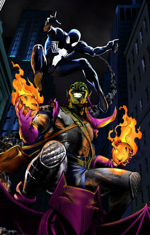 Black Spider and Green Goblin