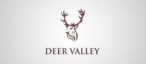 deer valley logo design