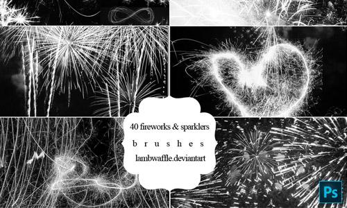 fireworks brush pack