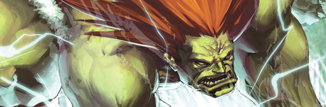 25 Blanka of Street Fighter Artworks