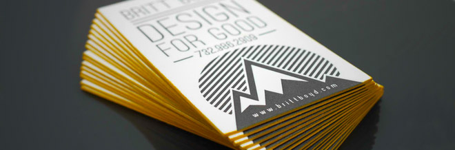 30 Spectacular Edge Painted Business Cards