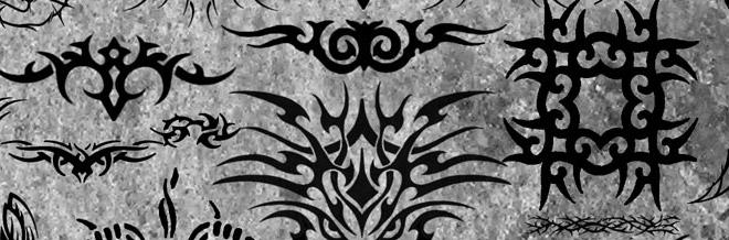 35 Sets of Free Photoshop Tattoo Brushes