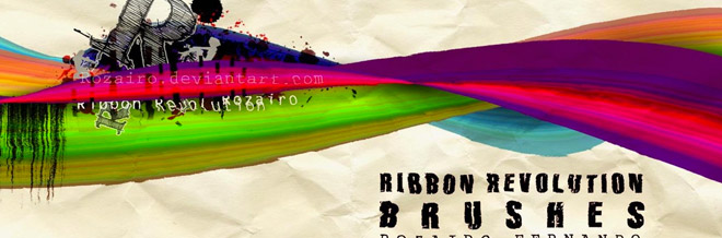A Collection of Free Ribbon Brushes