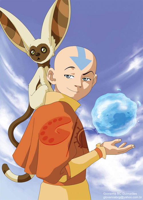 Avatar Card - Aang and Momo
