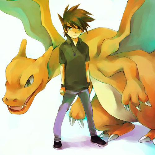 Green and Charizard's profile