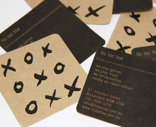 Business Card for: TIC TAC TOE