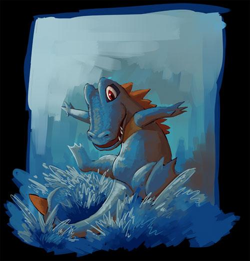 Totodile used Aqua Tail!