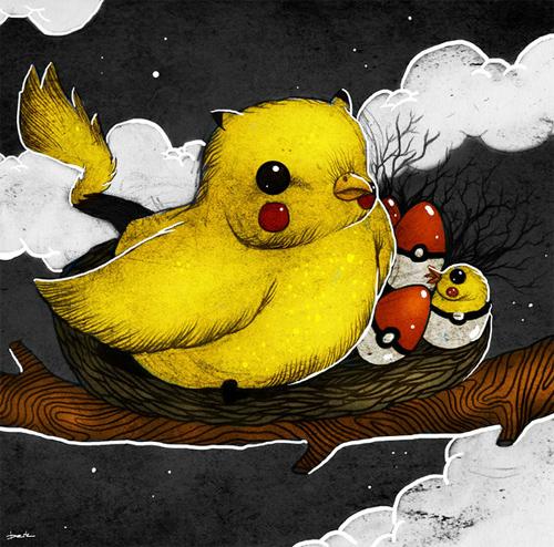 pikachu bird