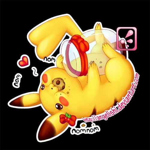 Pikachu nom nom nom