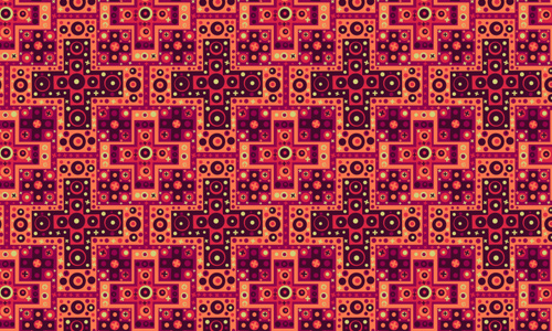 Retro Grunge Maze Patterns