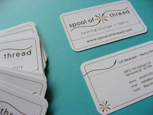 Spool of Thread Business Card