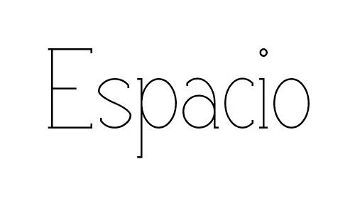 Espacio font