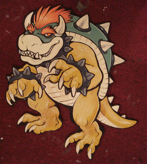 Bowser wood cut out