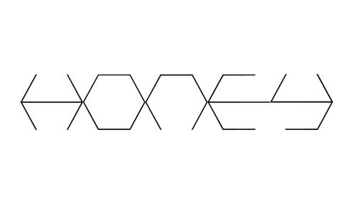 honeycombed font