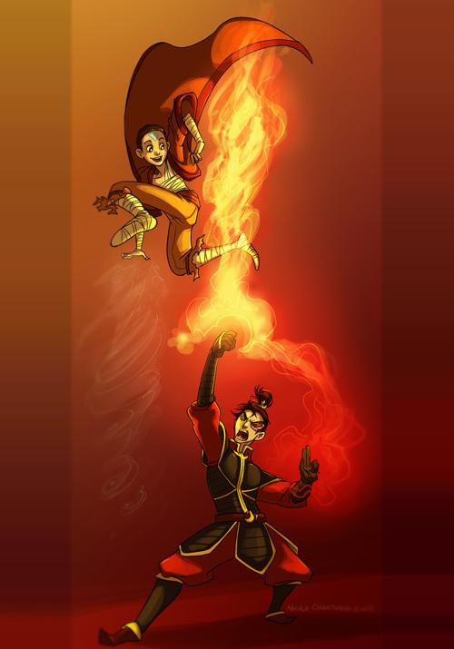 Aang vs Zuko
