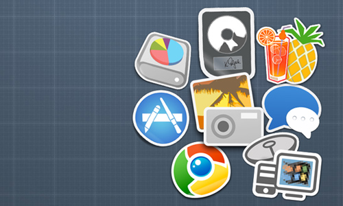 Handbrake/iPhoto/Logic/Chrome+More Sticker Icons