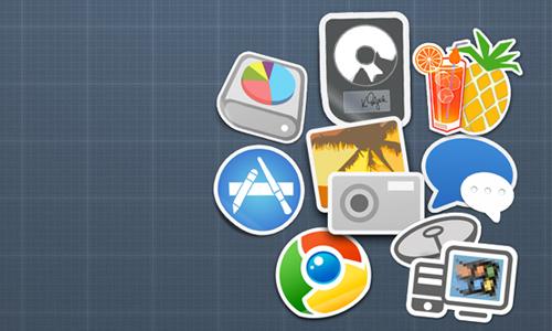 Handbrake/iPhoto/Logic/Chrome+More Sticker Icons