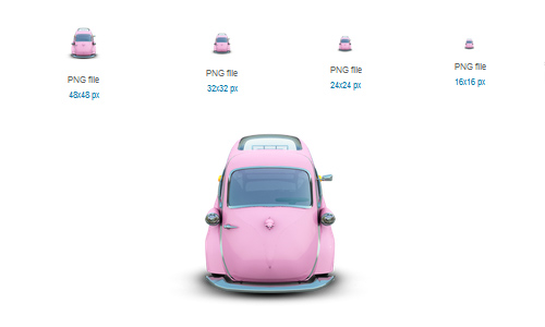 Pink Car Icon