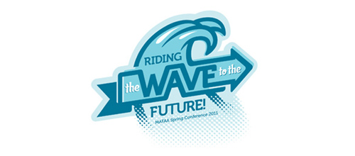 Riding the wave to the future logo