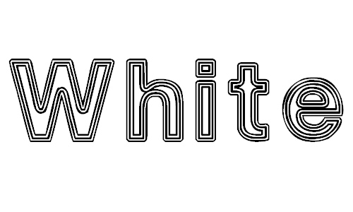 White Outlines font