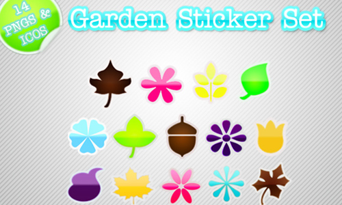 Garden Sticker Set