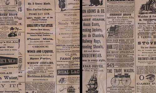 texture: vintage newspaper