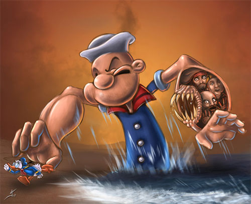 Popeye hates the competence
