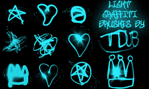 light graffiti brushes