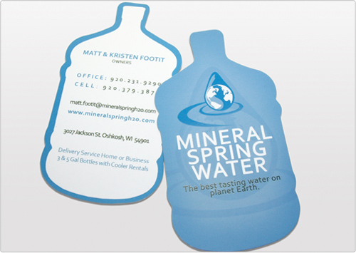 Mineral Spring Water Business Card
