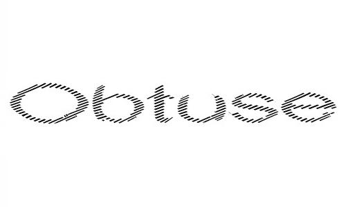 Obtuse font