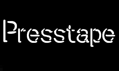 Presstape Lite font