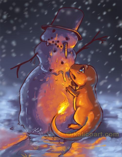 Charred Snowman