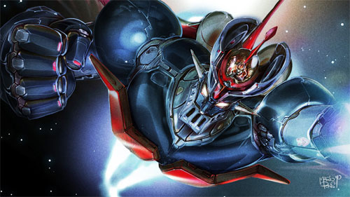 Mazinger-Z close-up