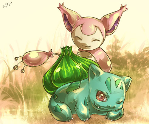 Skitty luvz Bulbasaur