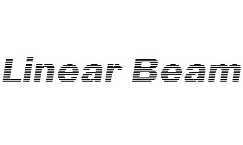 Linear Beam font