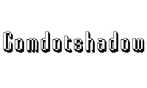Comdotshadow font
