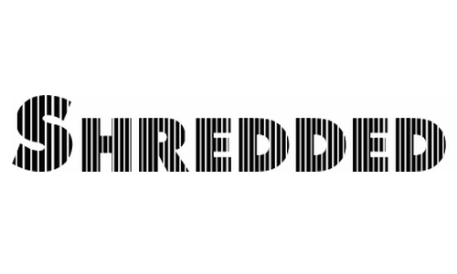 Shredded for you font