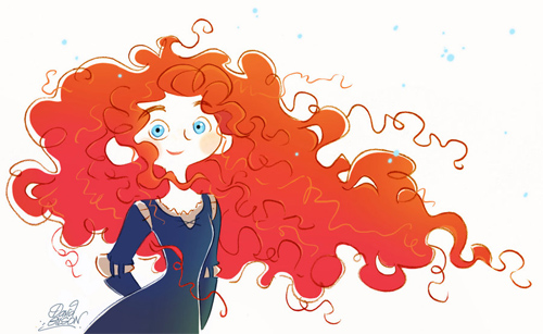 merida doodle from brave