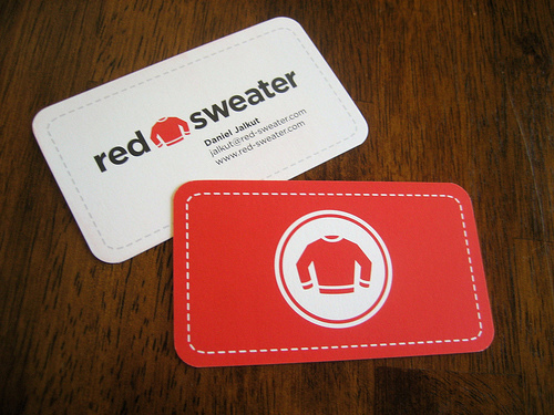 Red Sweater Business Card