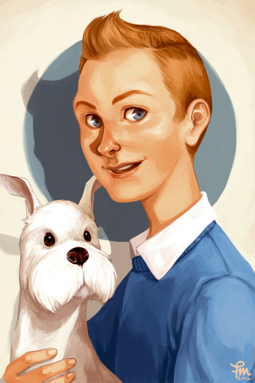 tintin and milou