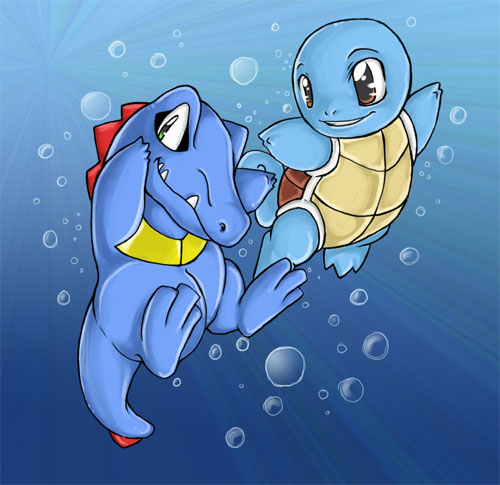+Totodile and Squirtle+