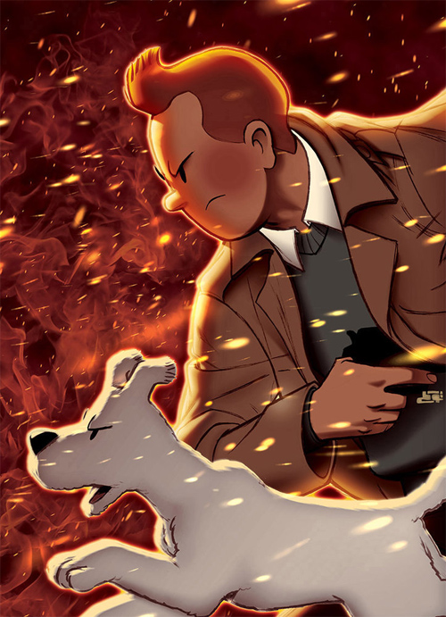 tintin burning dust storm
