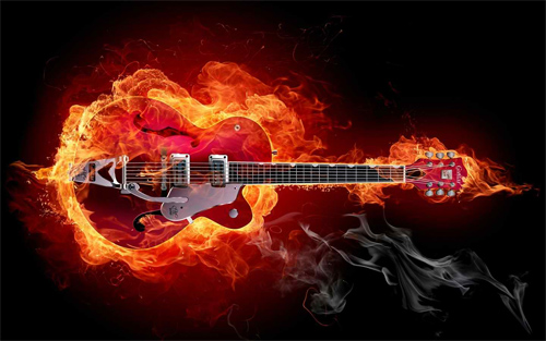 hard rock guitar Wallpaper