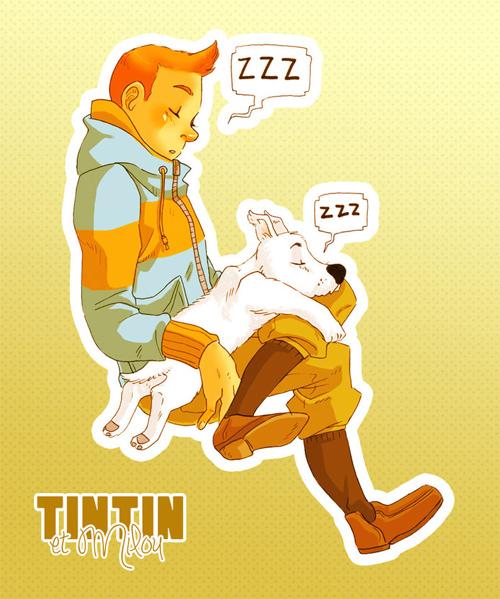 tintin et milou sleepy