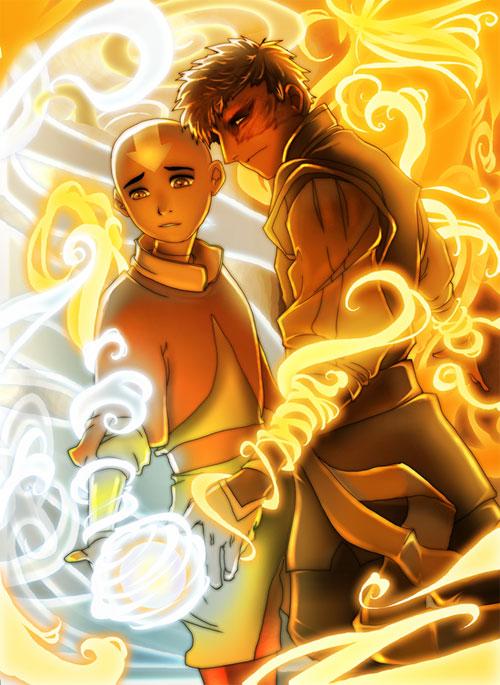 +A Fire Inside+ Aang + Zuko