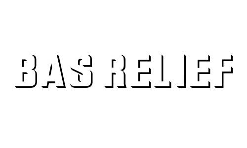 Bas Relief font